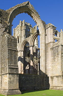 Part of the 12th century Fountains Abbey, UNESCO World Heritage Site, near Ripon, North Yorkshire, England, United Kingdom, Europe