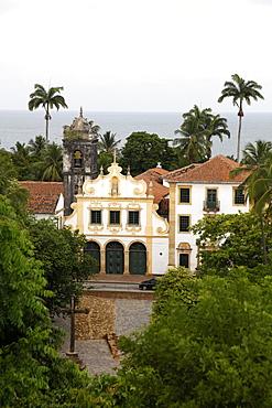View over Sao Francisco Monastery, UNESCO World Heritage Site, Olinda, Pernambuco, Brazil, South America