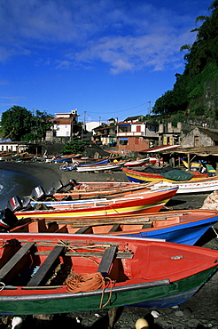 Grand Riviere fishing village in the northern tip of the island, Martinique, Lesser Antilles, West Indies, Caribbean, Central America