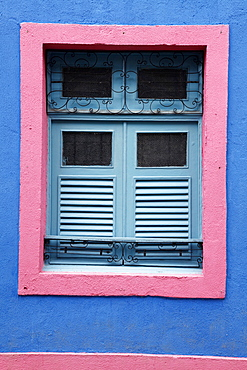 Detail of an old colonial house, Olinda, Pernambuco, Brazil, South America