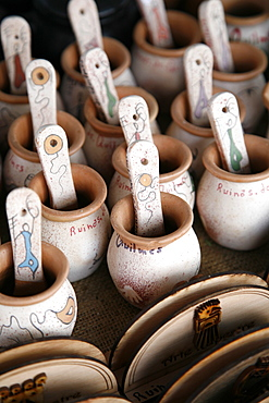 Local clay souvenirs sold in Quilmes, Salta Province, Argentina, South America