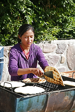 Torta Asada bread, Humahuaca, Quebrada de Humahuaca, Jujuy Province, Argentina, South America