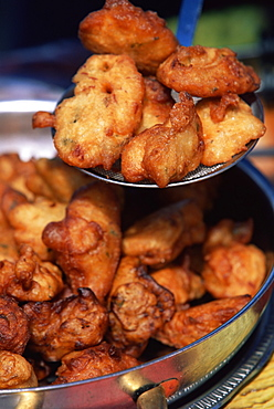 Fried food, Saint Pierre, island of Martinique, Lesser Antilles, French West Indies, Caribbean, Central America