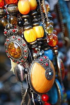 Jewellery at the flea market in Jaffa, Tel Aviv, Israel, Middle East