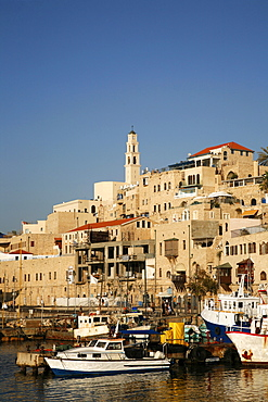 View over the port and Old Jaffa, Tel Aviv, Israel, Middle East
