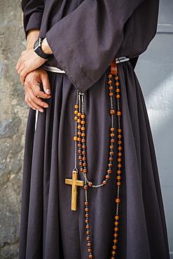 Franciscan monk, Jerusalem, Israel, Middle East