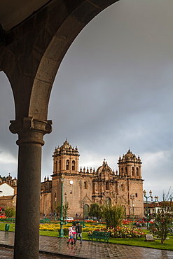 Plaza de Armas with the Cathedral, Cuzco, UNESCO World Heritage Site, Peru, South America