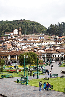Plaza de Armas, Cuzco, UNESCO World Heritage Site, Peru, South America