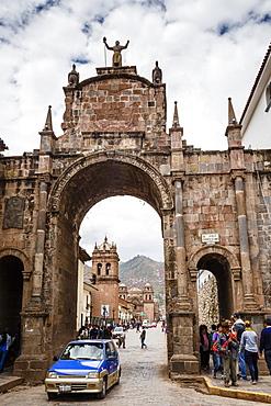 Santa Clara arch, Cuzco, Peru, South America
