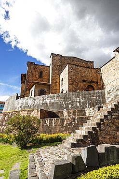 View over the Qorikancha and Santo Domingo church, Cuzco, UNESCO World Heritage Site, Peru, South America
