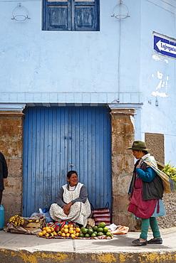 Street scene in Cuzco, Peru, South America