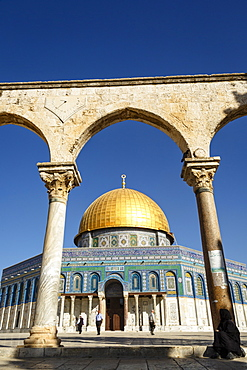 Dome of the Rock Mosque, Temple Mount, UNESCO World Heritage Site, Jerusalem, Israel, Middle East
