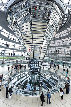 The Reichstag Dome, German Parliament building, Mitte, Berlin, Germany, Europe