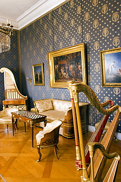 Music room at the Residenzmuseum, Munich, Bavaria, Germany, Europe