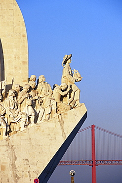Henry the Navigator on the prow of the Padrao dos Descobrimentos, Monument to the Discoveries, Belem, Lisbon, Portugal, Europe