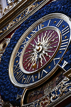 The medieval clock (Gros Horloge), old Rouen, Normandy, France, Europe