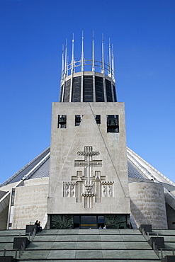 The Metropolitan Cathedral of Christ The King, Liverpool, Merseyside, England, United Kingdom, Europe
