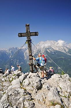 Summit cross, Jenner, Berchtesgadener Land, Bavaria, Germany, Europe