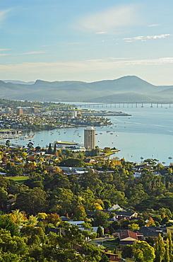 Hobart and the River Derwent, Tasmania, Australia, Pacific