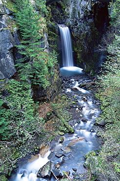 Christine Falls, Mount Rainier National Park, Washington state, United States of America, North America