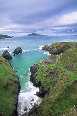 Coast at Slea Head and the Blasket Islands, County Kerry, Munster, Eire (Republic of Ireland), Europe