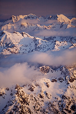 Olympic mountain range, Olympic National Park, UNESCO World Heritage Site, Washington State, United States of America, North America