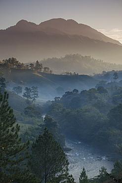 Landscape, Rio Lanquin, Lanquin, Guatemala, Central America