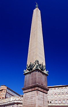 St Peters Square with obelisk and St Peter's cathedral, Italy, Rome, Vatican City