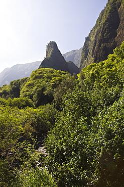 Iao Needle at Kepaniwai County Park,  Iao Valley, Maui, Hawaii, USA