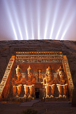 Light and Sound Show Great Temple of Pharaoh Ramesses II, Abu Simbel, Egypt