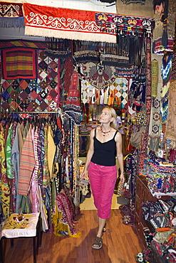 Tourist at Grand Bazaar Kapali Carsi, Istanbul, Turkey