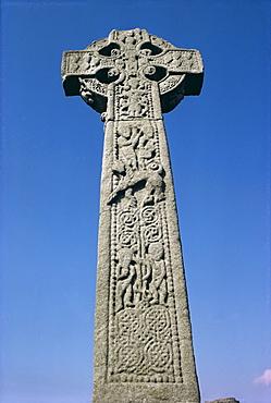 Close up of the High Cross, Drumcliff, County Sligo, Connacht, Eire (Republic of Ireland), Europe