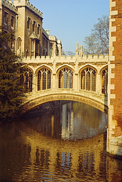 The Bridge of Sighs, St John's College, Cambridge, Cambridgeshire, England, UK