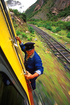 One of the world's most famous train rides thru the Inca Sacred Valley from Cuzco to Machu Picchu, Peru