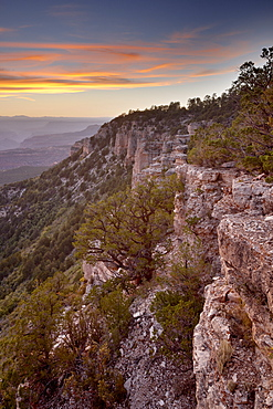 Sunset at Locust Point, North Rim, Grand Canyon National Park, UNESCO World Heritage Site, Arizona, United States of America, North America