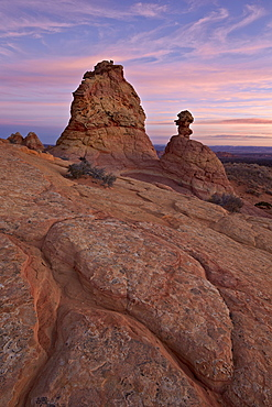 Sandstone formations at sunrise, Coyote Buttes Wilderness, Vermilion Cliffs National Monument, Arizona, United States of America, North America