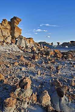 Rocks in the badlands, Ah-Shi-Sle-Pah Wilderness Study Area, New Mexico, United States of America, North America