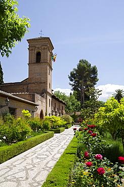 Parador at the Alhambra, Granada, Province of Granada, Andalusia, Spain, Europe