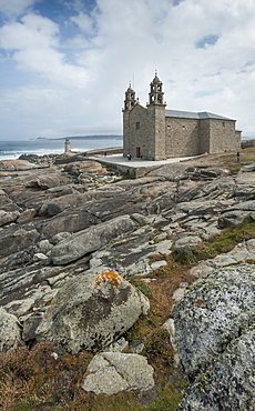 Nosa Senora da Barca (Our Lady of the Boat) Church in Muxia, A Coruna, Galicia, Spain, Europe