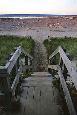 Beach at Old Mission Lighthouse, Michigan, United States of America, North America