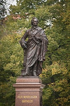 Mendelssohn statue, Leipzig, Saxony, Germany, Europe