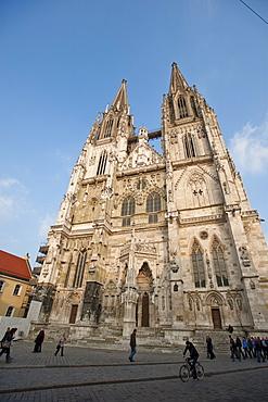 Regensburg Cathedral dedicated to St. Peter, UNESCO World Heritage Site, Regensburg, Bavaria, Germany, Europe