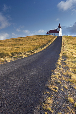 Ingjaldsholl church at Hellisandur, on border of Snaefellsjokull National Park, Snaefellsnes Peninsula, Iceland, Polar Regions - 770-1217