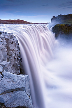 Dettifoss, largest waterfall in Europe at 45 m high and 100 m wide, Jokulsargljufur National Park, north Iceland (Nordurland), Iceland, Polar Regions