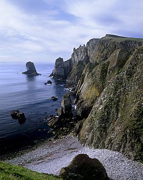 Malcolm's Head, Fair Isle south-west coast, Fair Isle, Shetland Islands, Scotland, United Kingdom, Europe