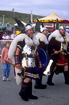 Viking squadron, Lerwick, Mainland, Shetland Islands, Scotland, United Kingdom, EuropeThe islanders are pround of their Norse ancestry.