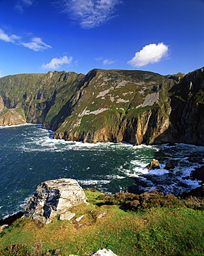 Slieve League, the highest cliffs in Europe, Bunglass Point, County Donegal, Ulster, Republic of Ireland, Europe