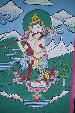 Painting in Trongsa Dzong, Trongsa, Bhutan, Asia.