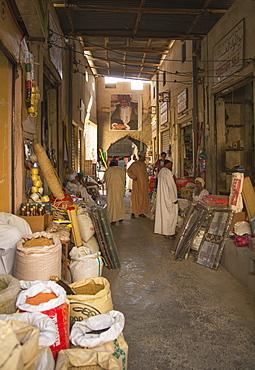 Arab men in the Souk, Nizwa, Oman, Middle East