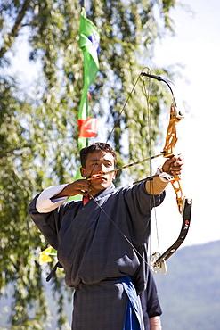 Archery, Bhutan's national sport, Paro, Bhutan,Asia